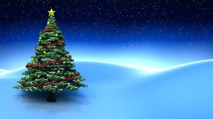 Christmas-tree-on-a-magic-blue-night